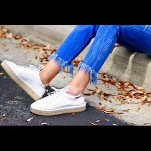 Andre Assous Leather Espadrille Sneakers